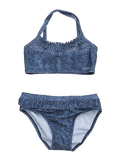 049d73a4336a2 GUESS Bikini Denim Print (Blue Jeans Tye Dy)
