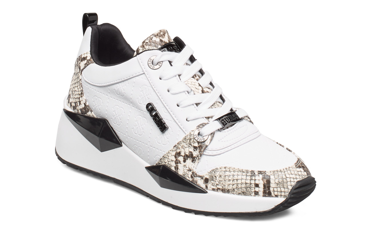 GUESS TALLYN/ACTIVE LADY/LEATHER LIK - WHITE & BLACK