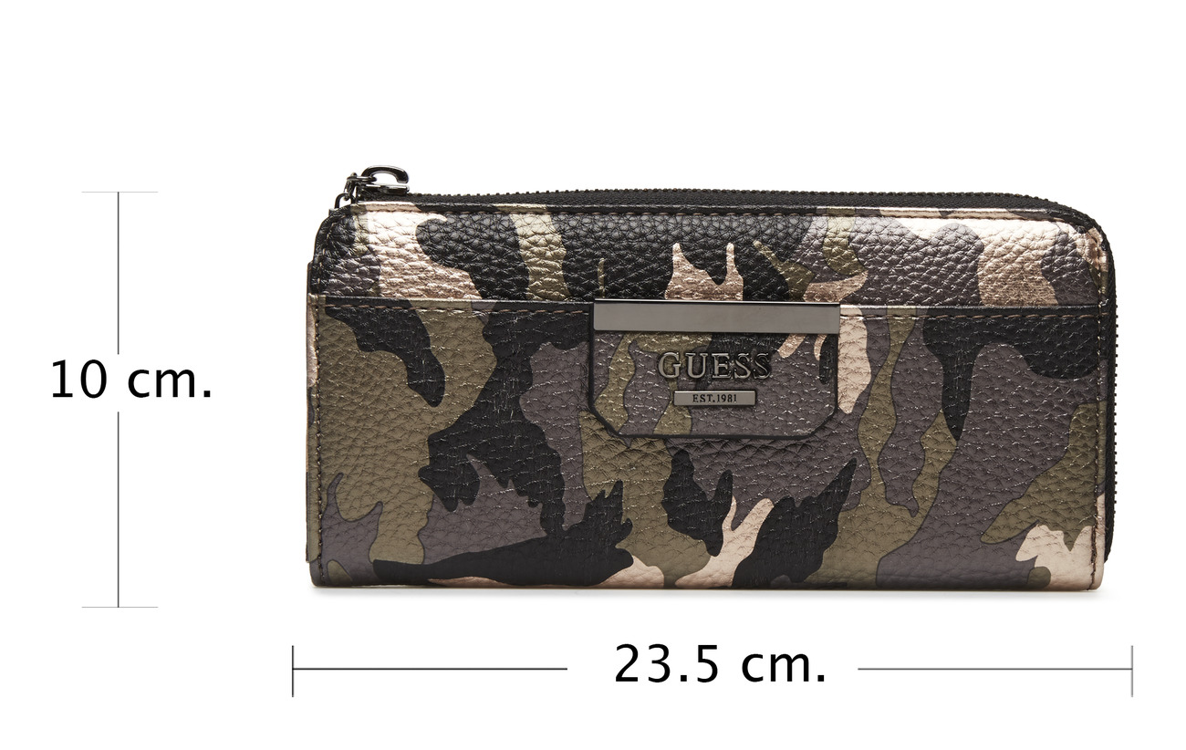Zip 100 Slim Slg Wallet Camouflage Pvc Guess Bobbi wxPt1n8