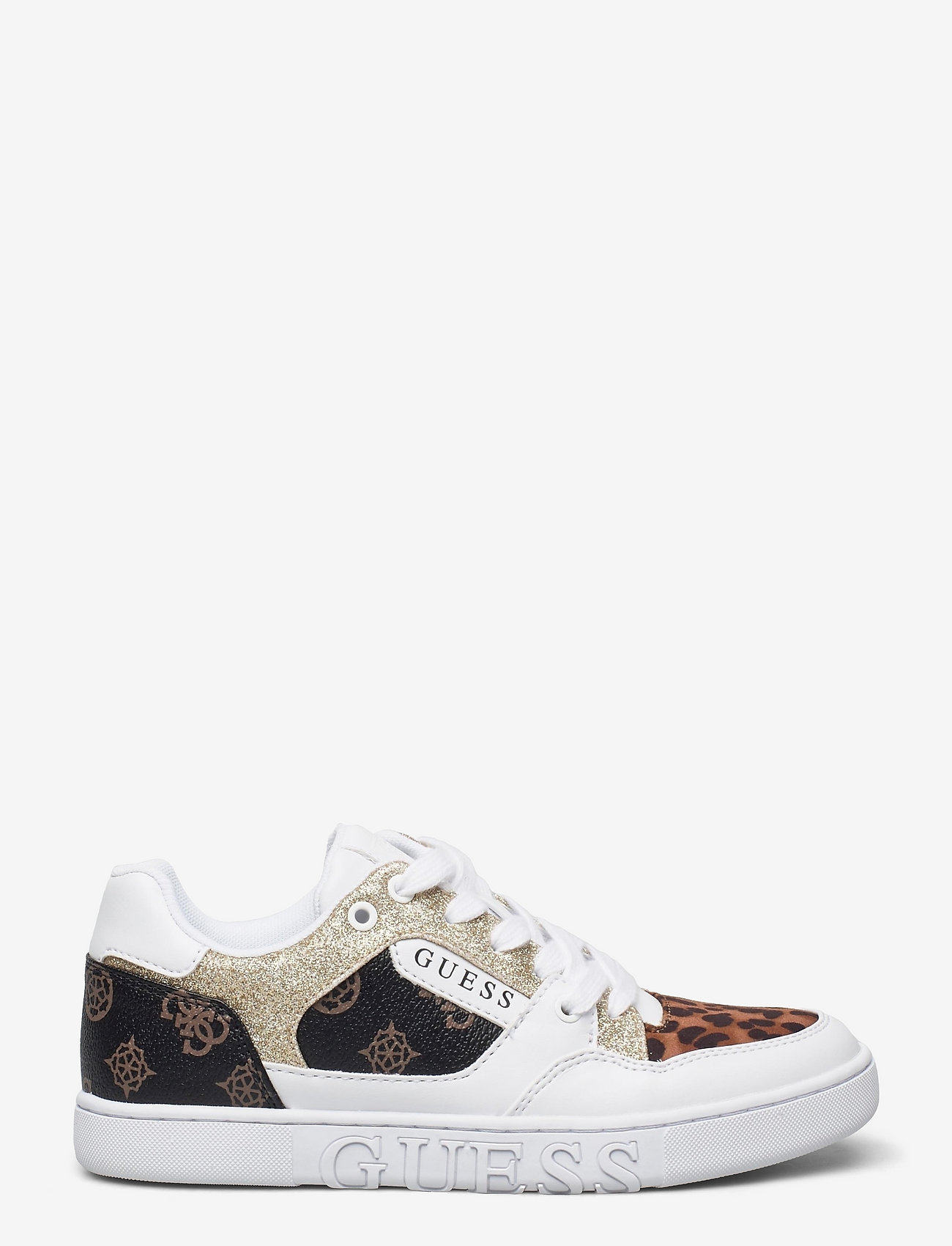 GUESS - JULIEN2/ACTIVE LADY/LEATHER LI - låga sneakers - whibr - 0