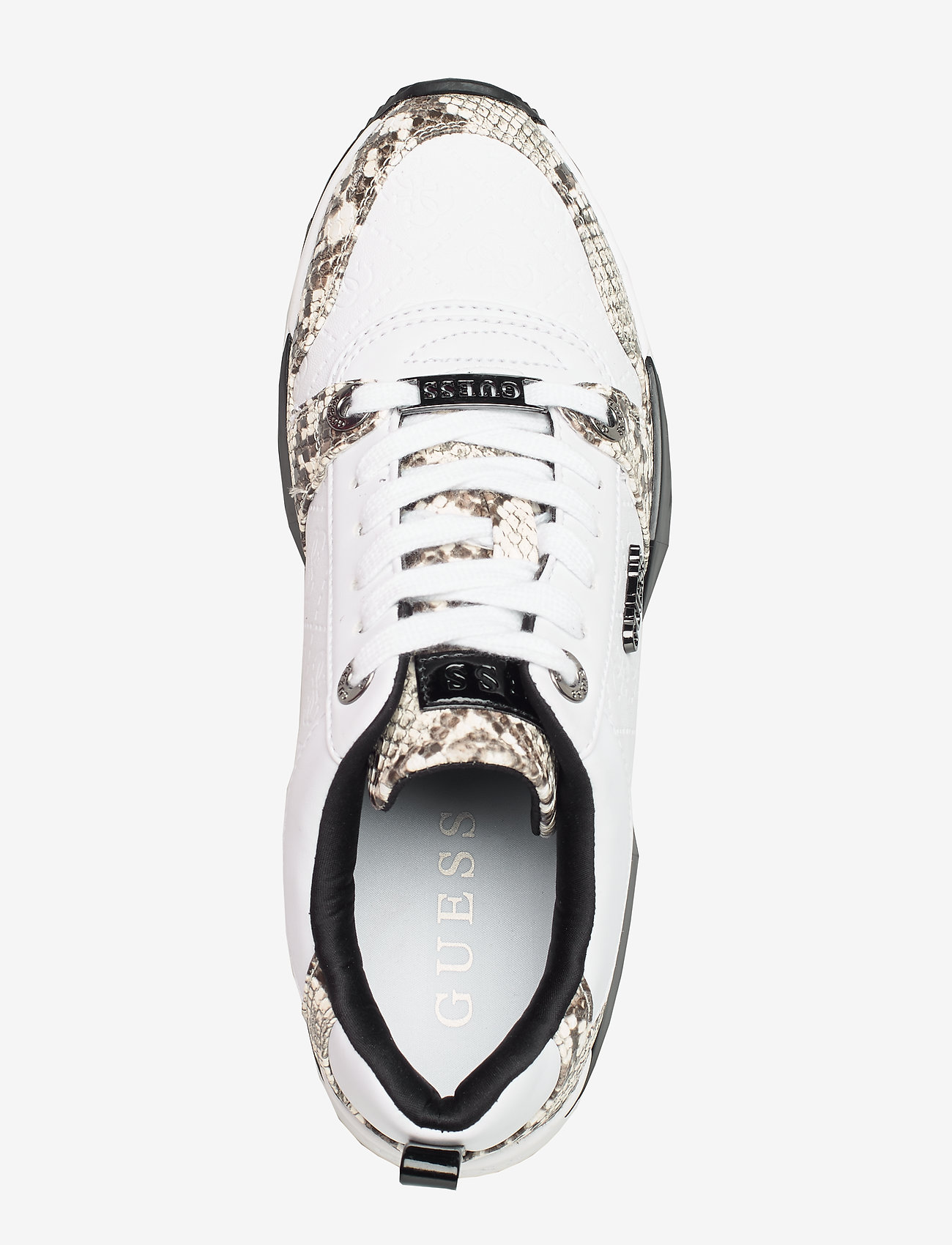 Tallyn/active Lady/leather Lik (White & Black) (569.40 kr) - GUESS