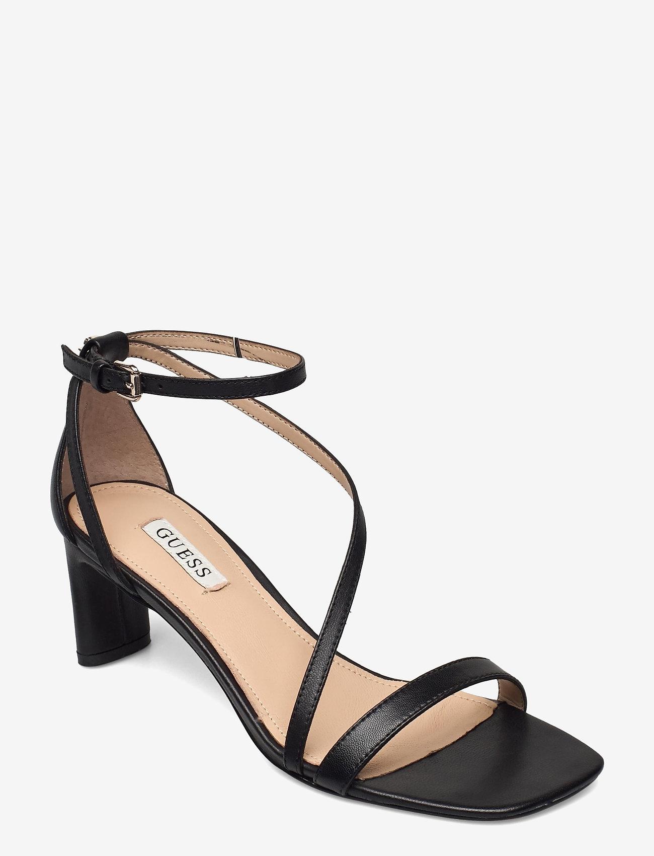GUESS - SELBY2/SANDALO (SANDAL)/LEATHE - sandales à talons - black - 0