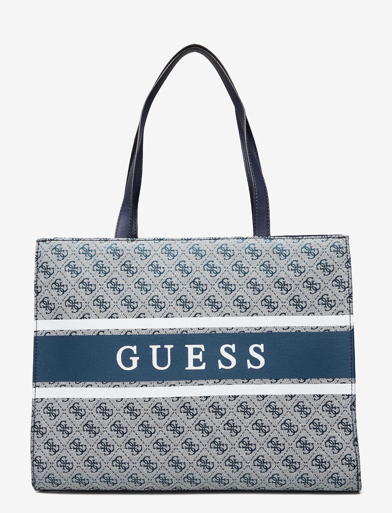 GUESS - MONIQUE TOTE - shoppingväskor - blue - 0