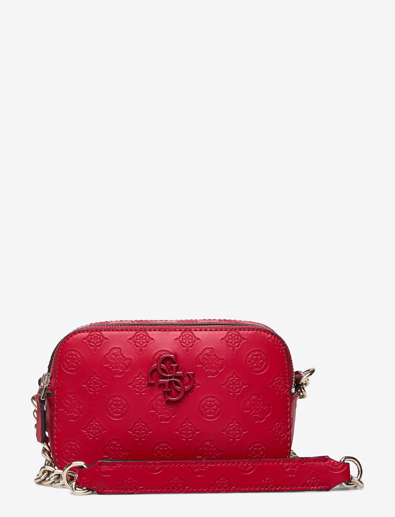 GUESS - NOELLE CROSSBODY CAMERA - crossbody bags - red - 0