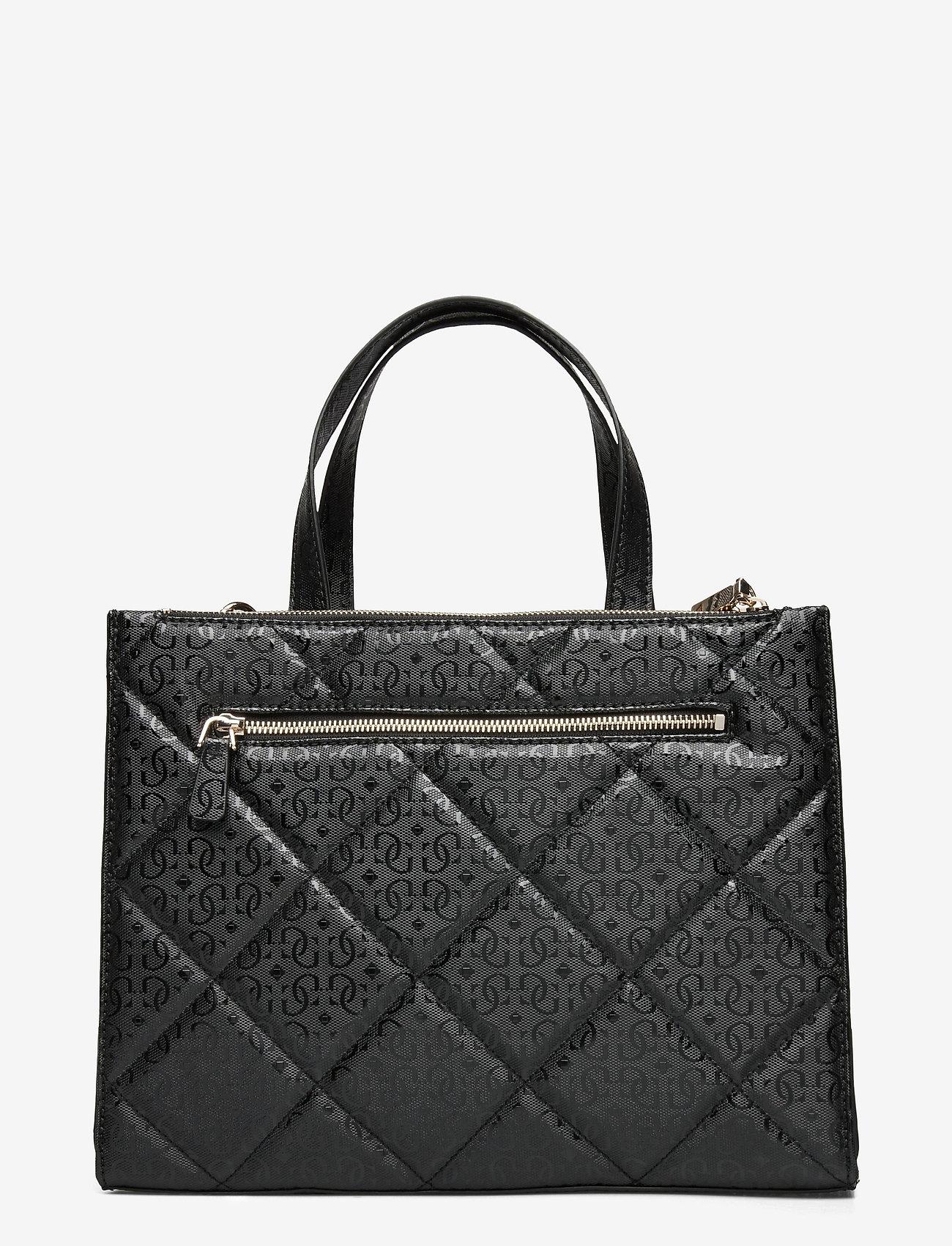 GUESS - DILLA ELITE SOCIETY SATCHEL - handväskor - black - 1