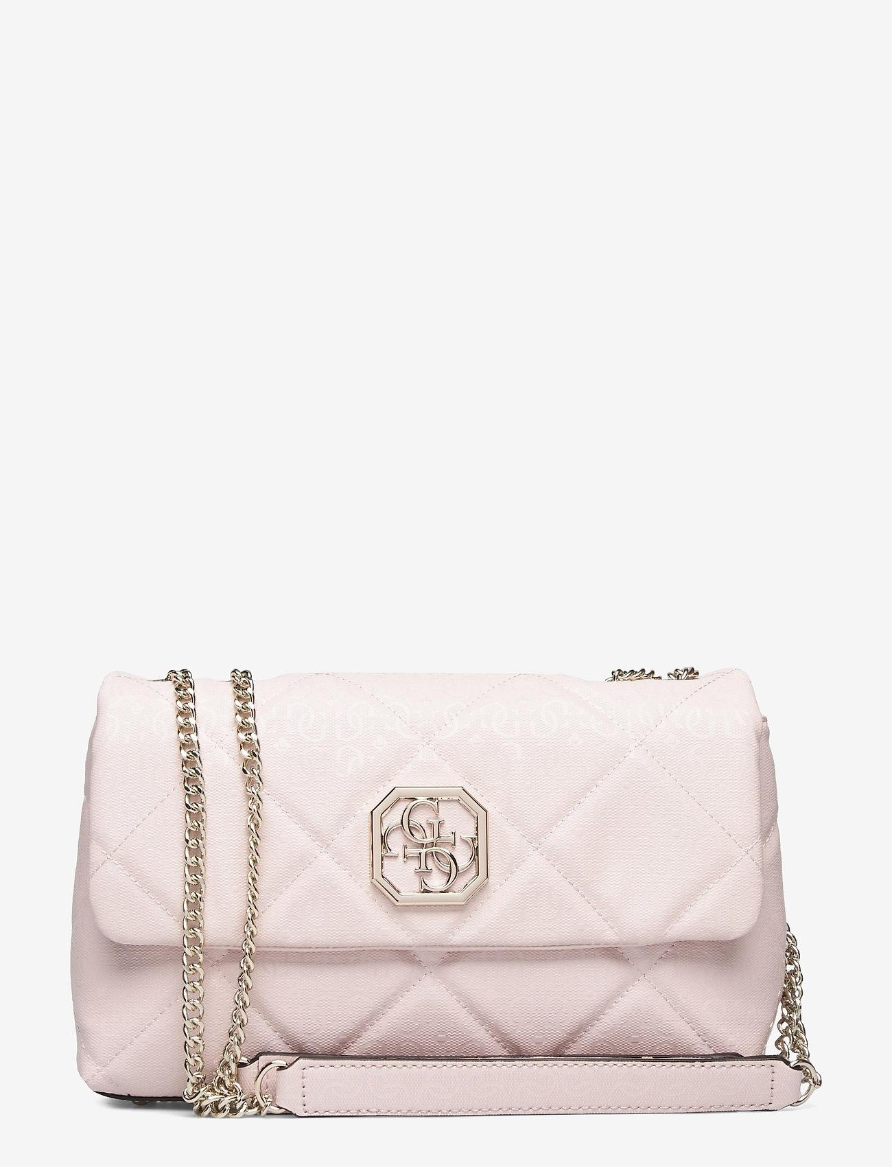 GUESS - DILLA CONVERTIBLE XBODY FLAP - crossbody bags - blush - 0