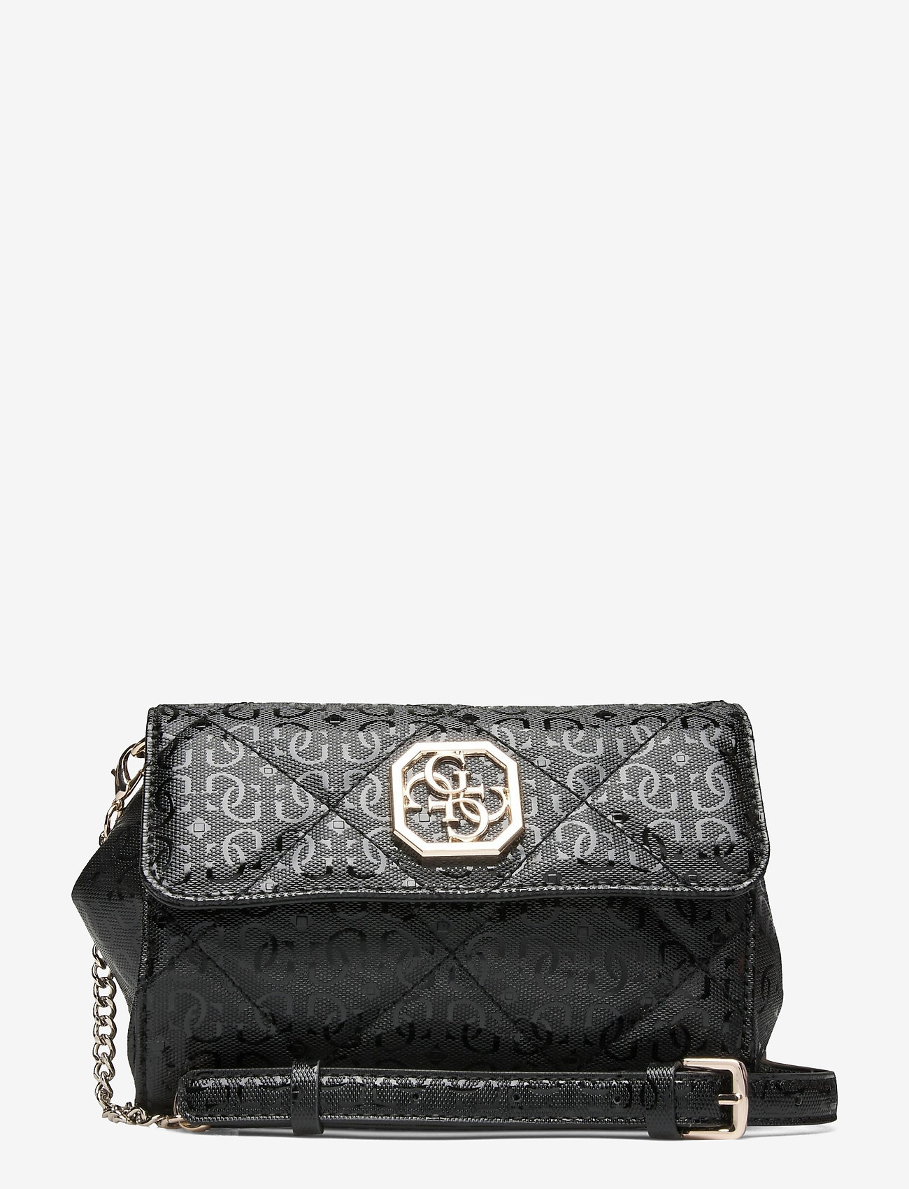 GUESS - DILLA CNVRTBLE XBODY BELT BAG - crossbody bags - black - 0
