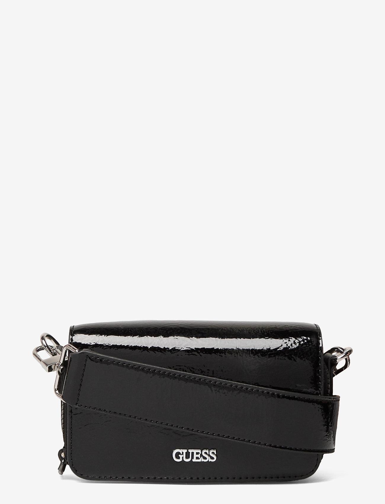 GUESS - PICNIC MINI SHOULDER BAG - sacs à bandoulière - black - 0