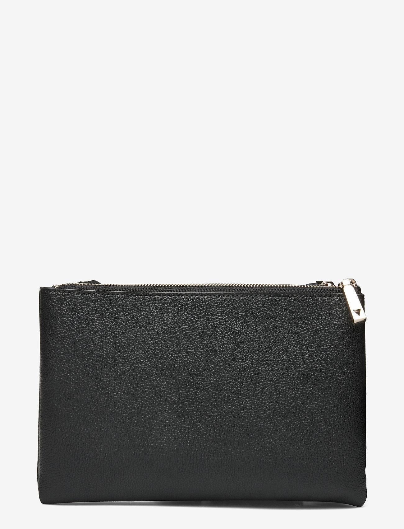 GUESS - NAYA DOUBLE ZIP CROSSBODY - crossbody bags - black - 1