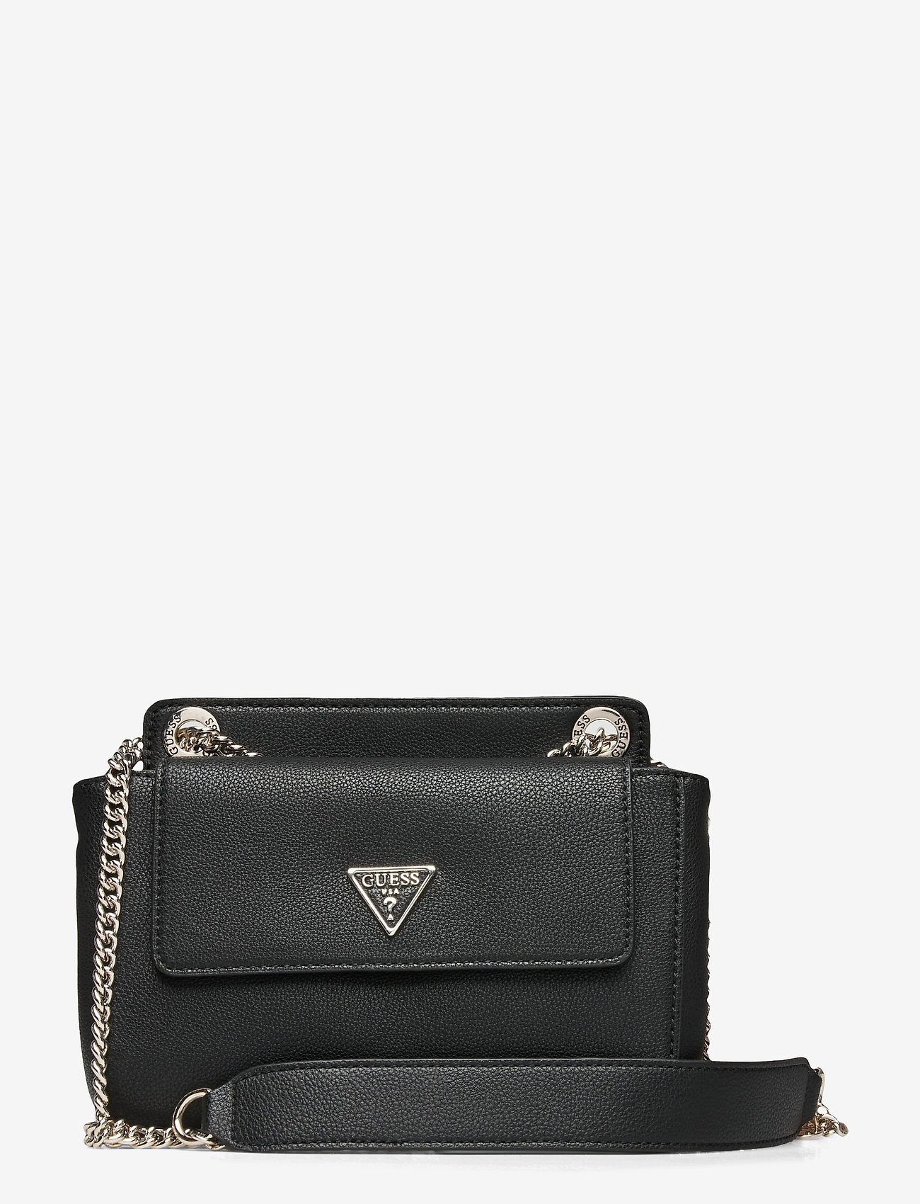 GUESS - SANDRINE CONVERTIBLE CROSSBODY - crossbody bags - black - 0