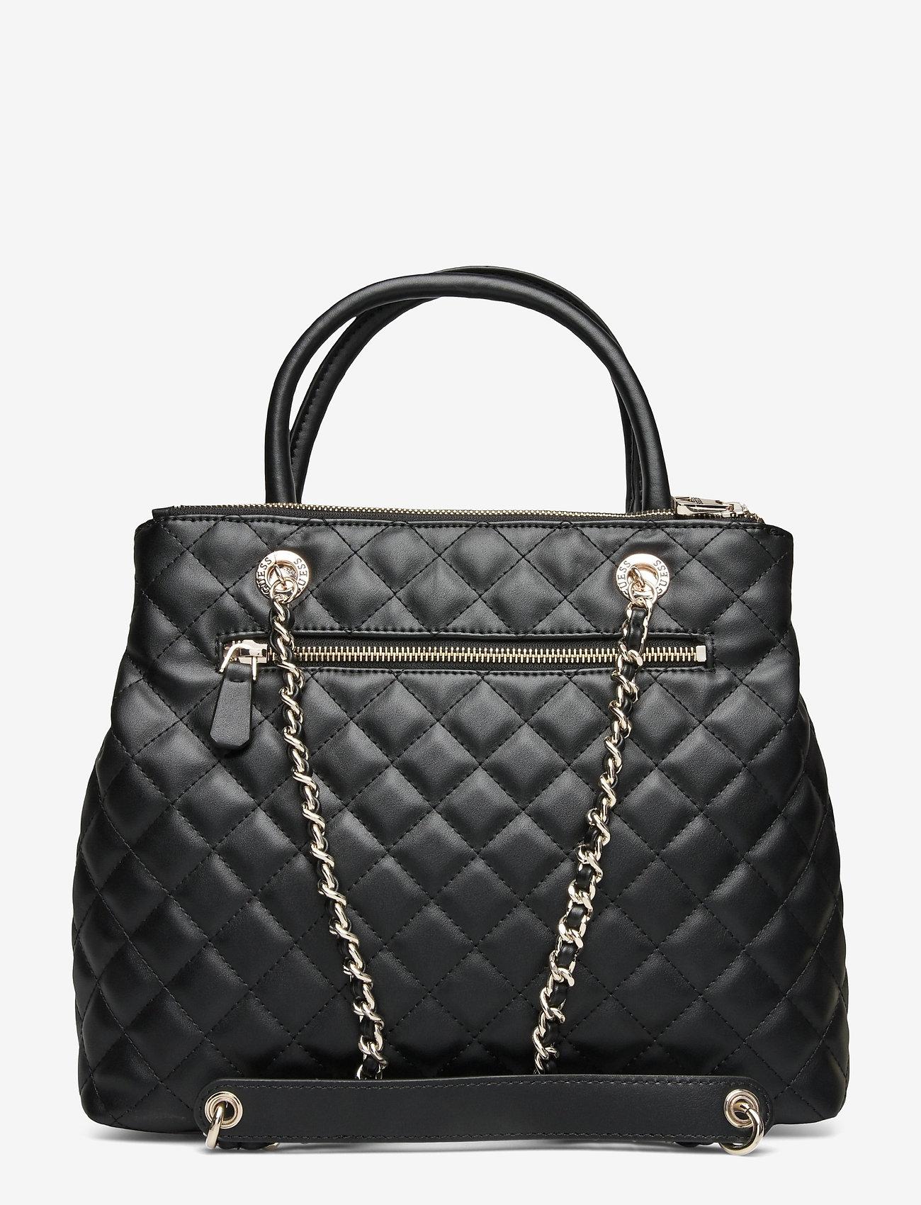 GUESS - ILLY SOCIETY SATCHEL - handväskor - black - 1