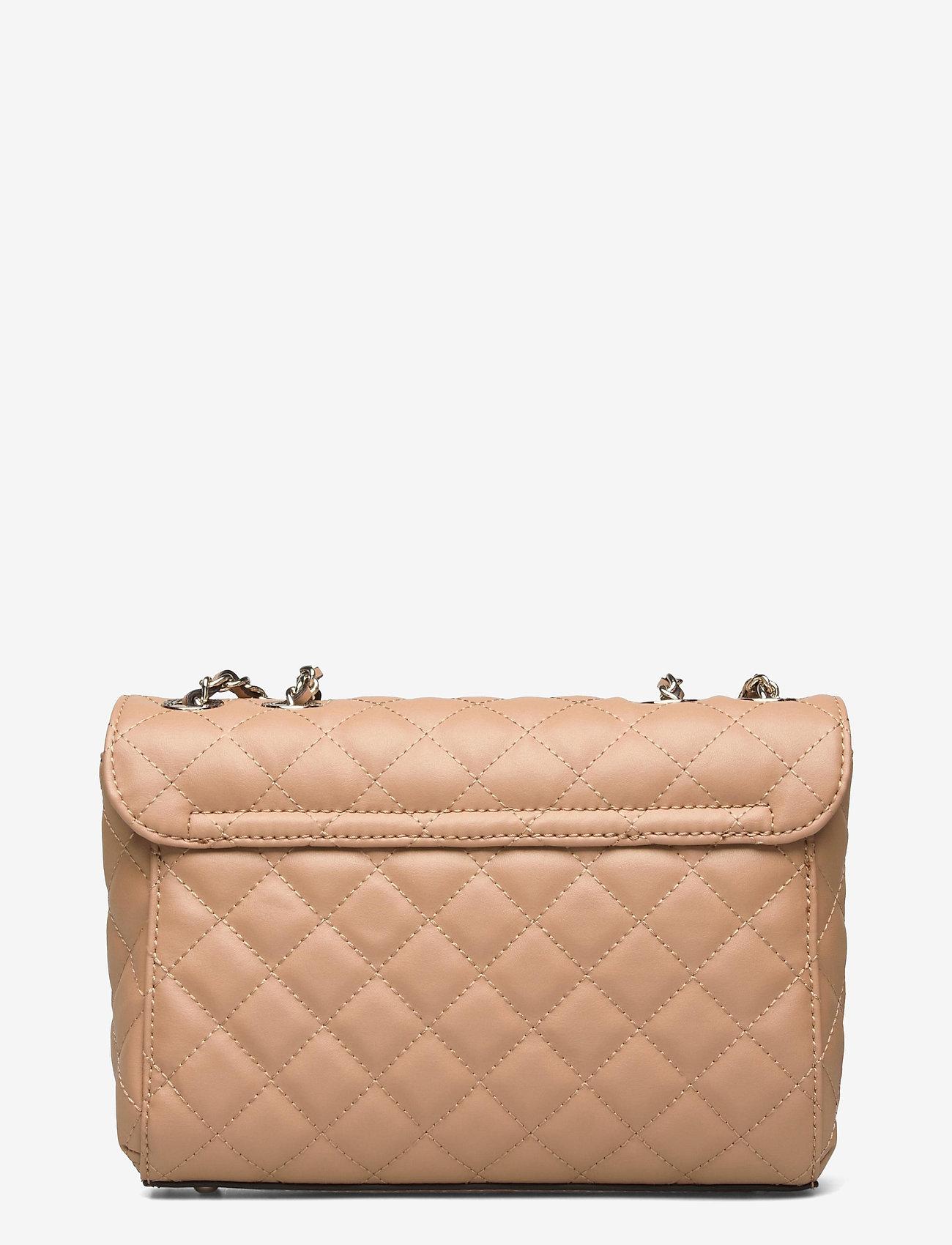 GUESS - ILLY CONVERTIBE CROSSBODY FLAP - crossbody bags - beige - 1