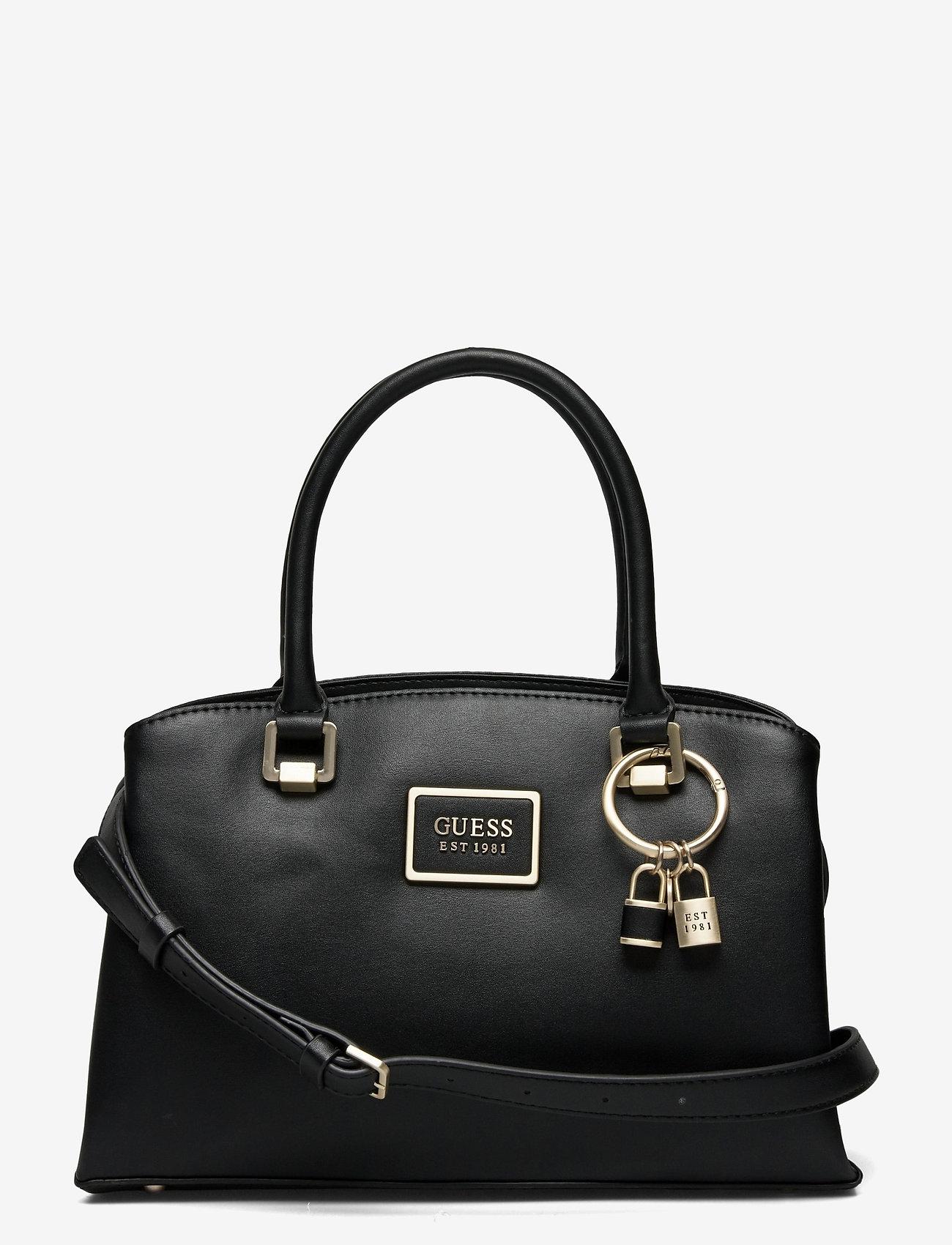 GUESS - TYREN GIRLFRIEND SATCHEL - handväskor - black - 0