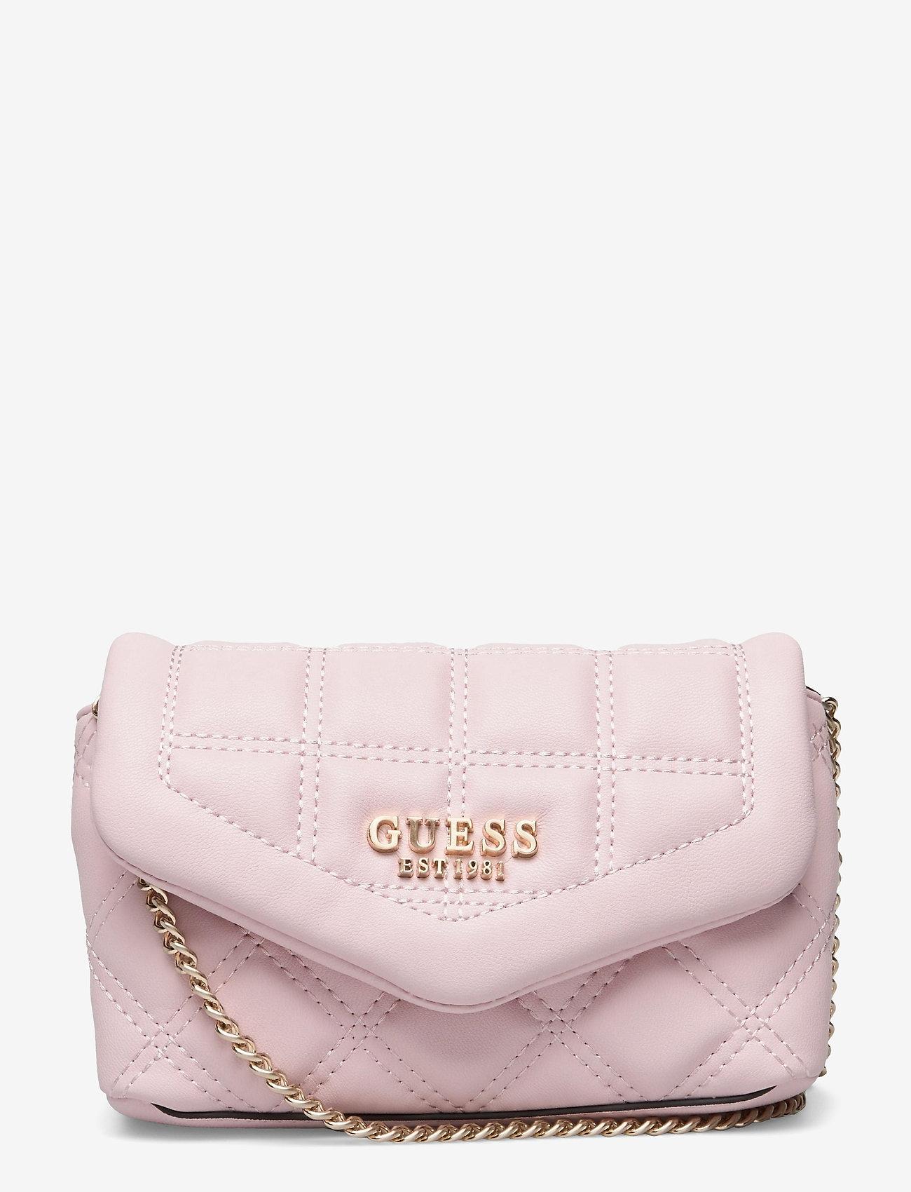 GUESS - KAMINA CNVRTBL XBODY BELT BAG - crossbody bags - blush - 0