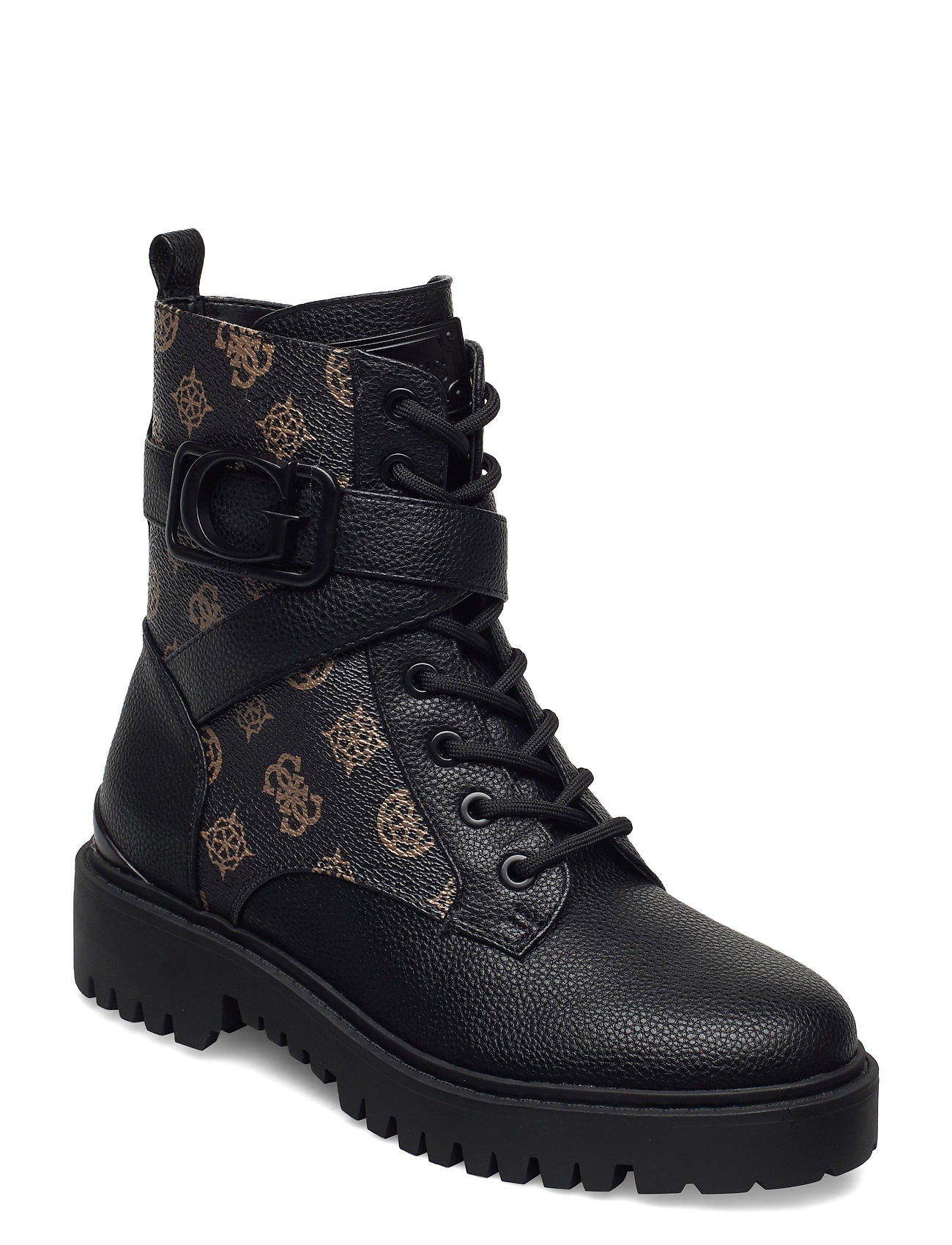 Image of Orana/Stivaletto /Leat Shoes Boots Ankle Boots Ankle Boot - Flat Brun GUESS (3465798603)