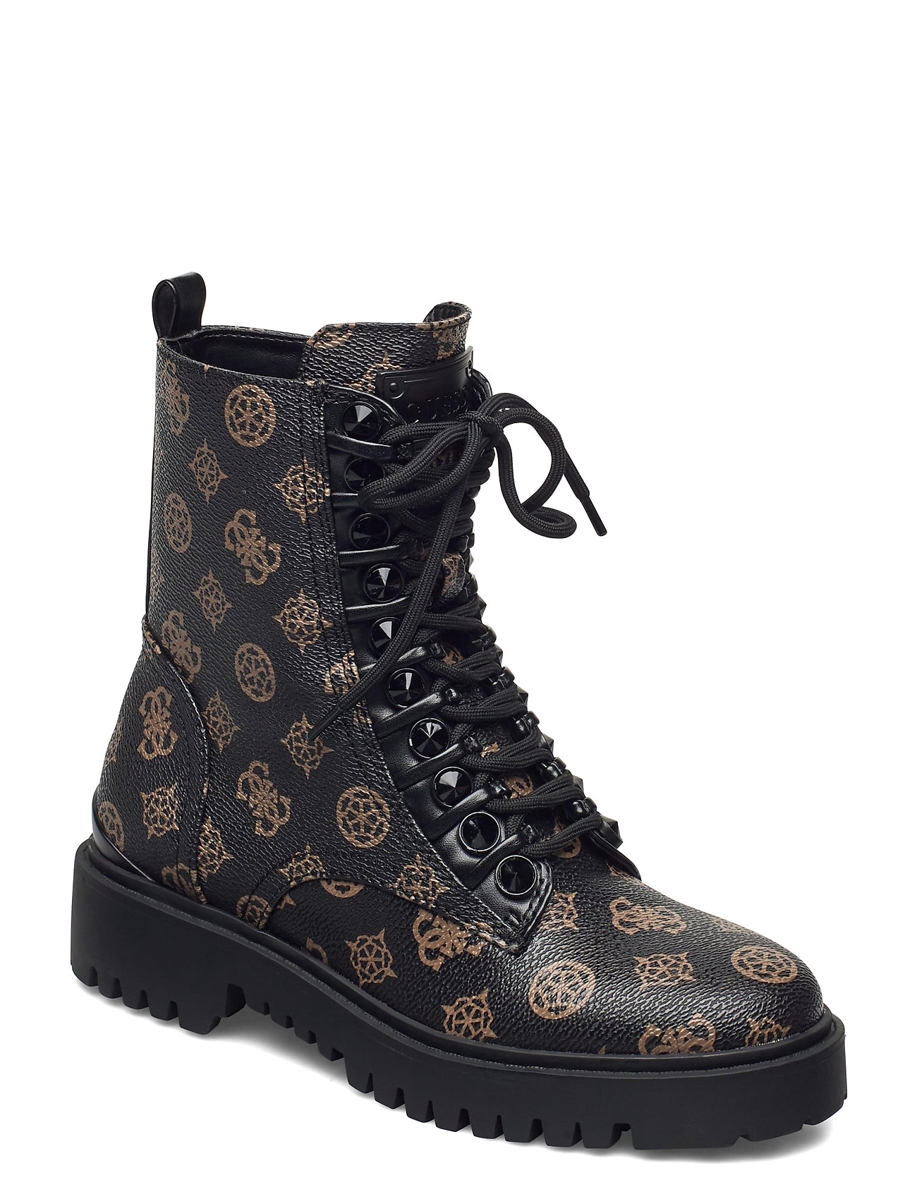 Image of Oxana/Stivaletto /Leat Shoes Boots Ankle Boots Ankle Boot - Flat Brun GUESS (3470937475)