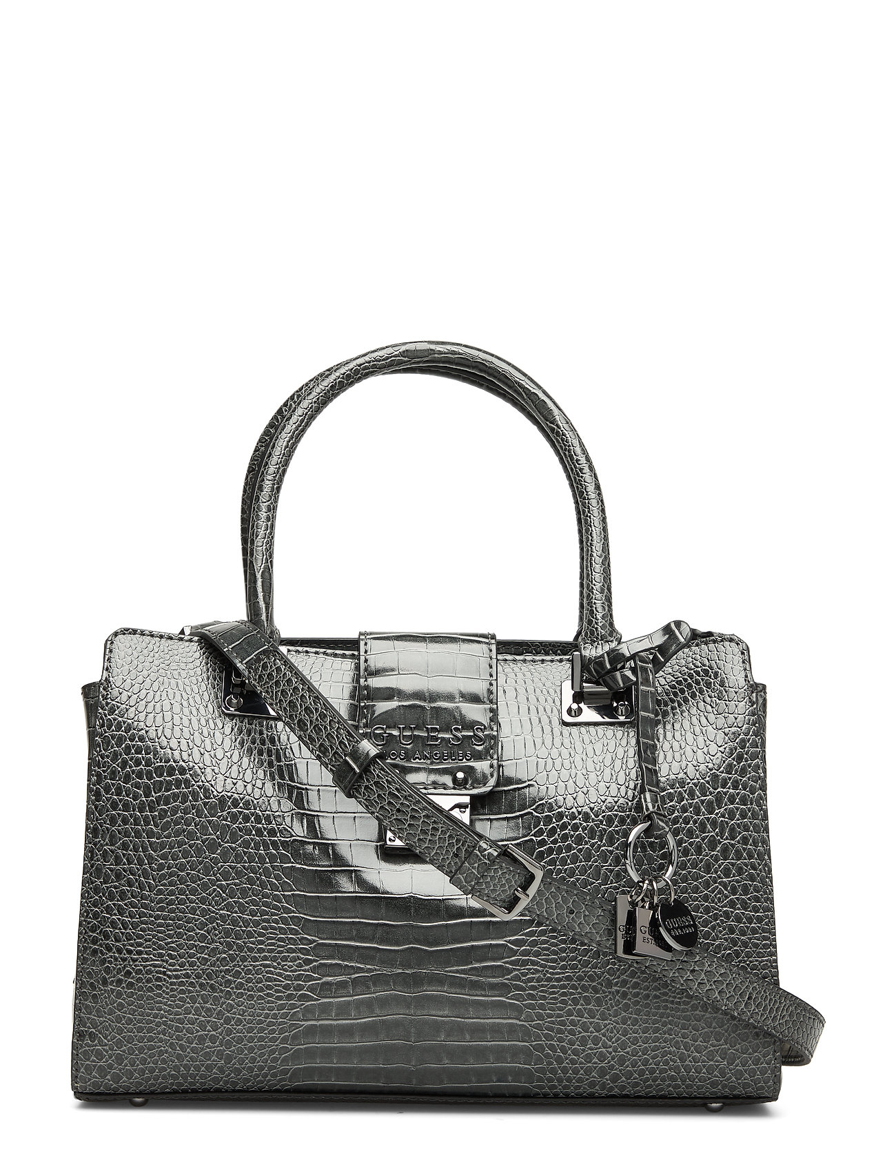 GUESS CLEO GIRLFRIEND SATCHEL - GRAPHITE