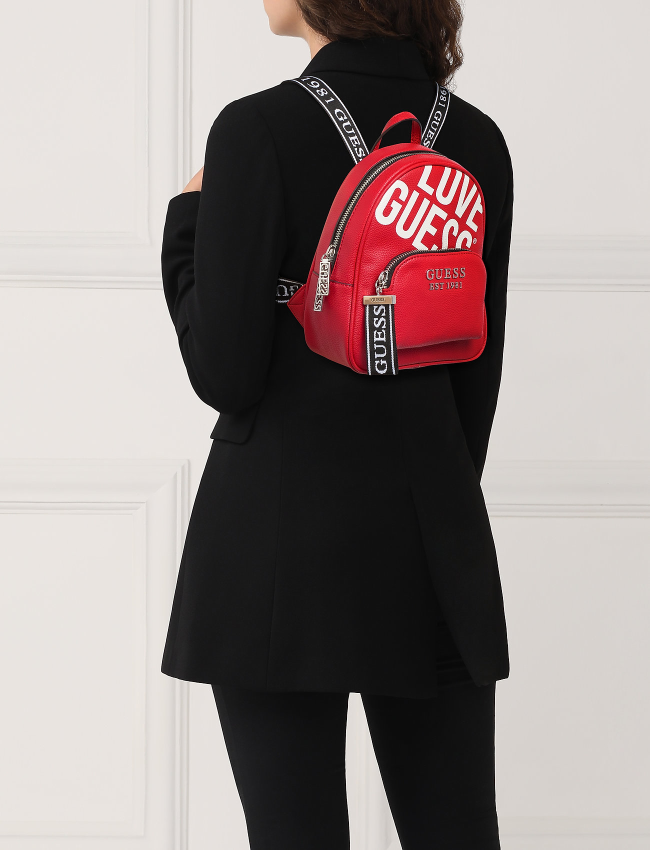GUESS HAIDEE BACKPACK - RED
