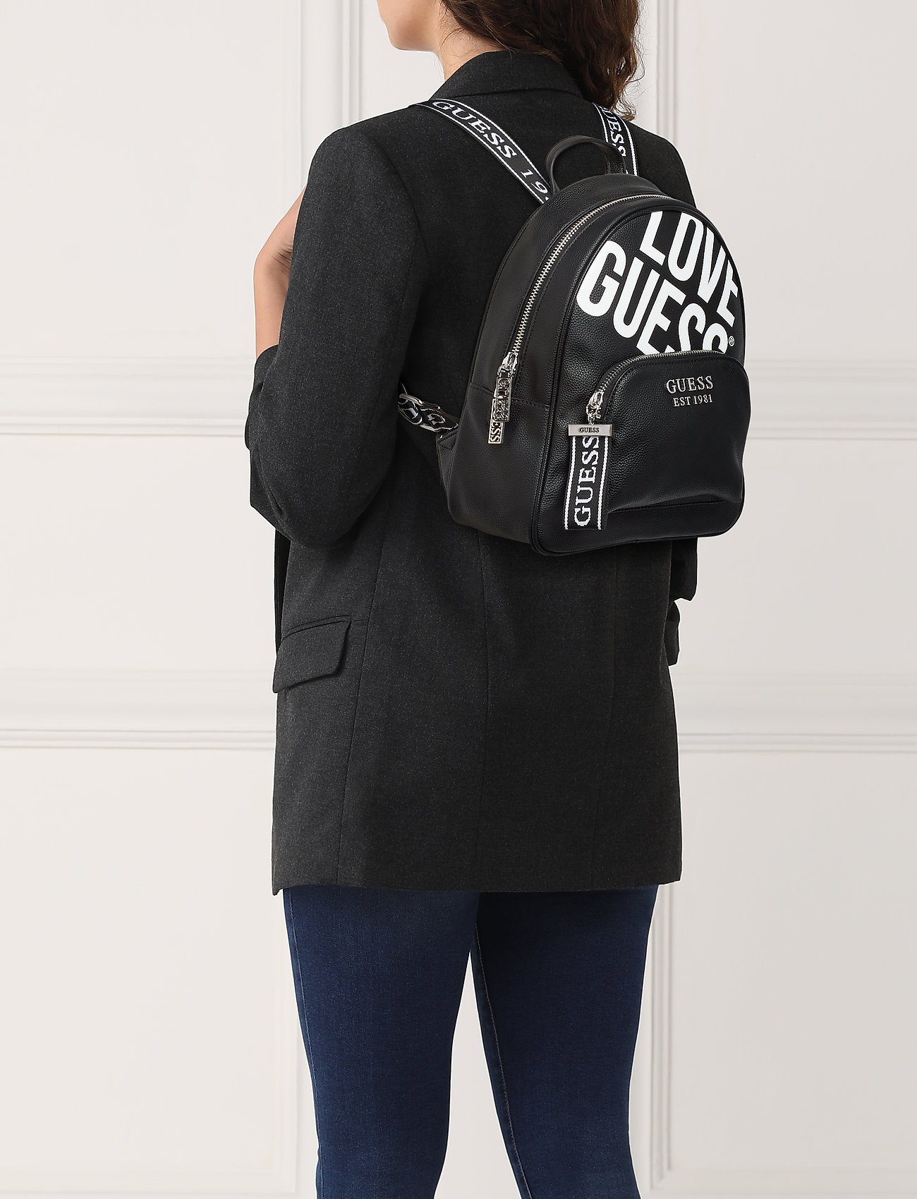 GUESS HAIDEE LARGE BACKPACK - BLACK