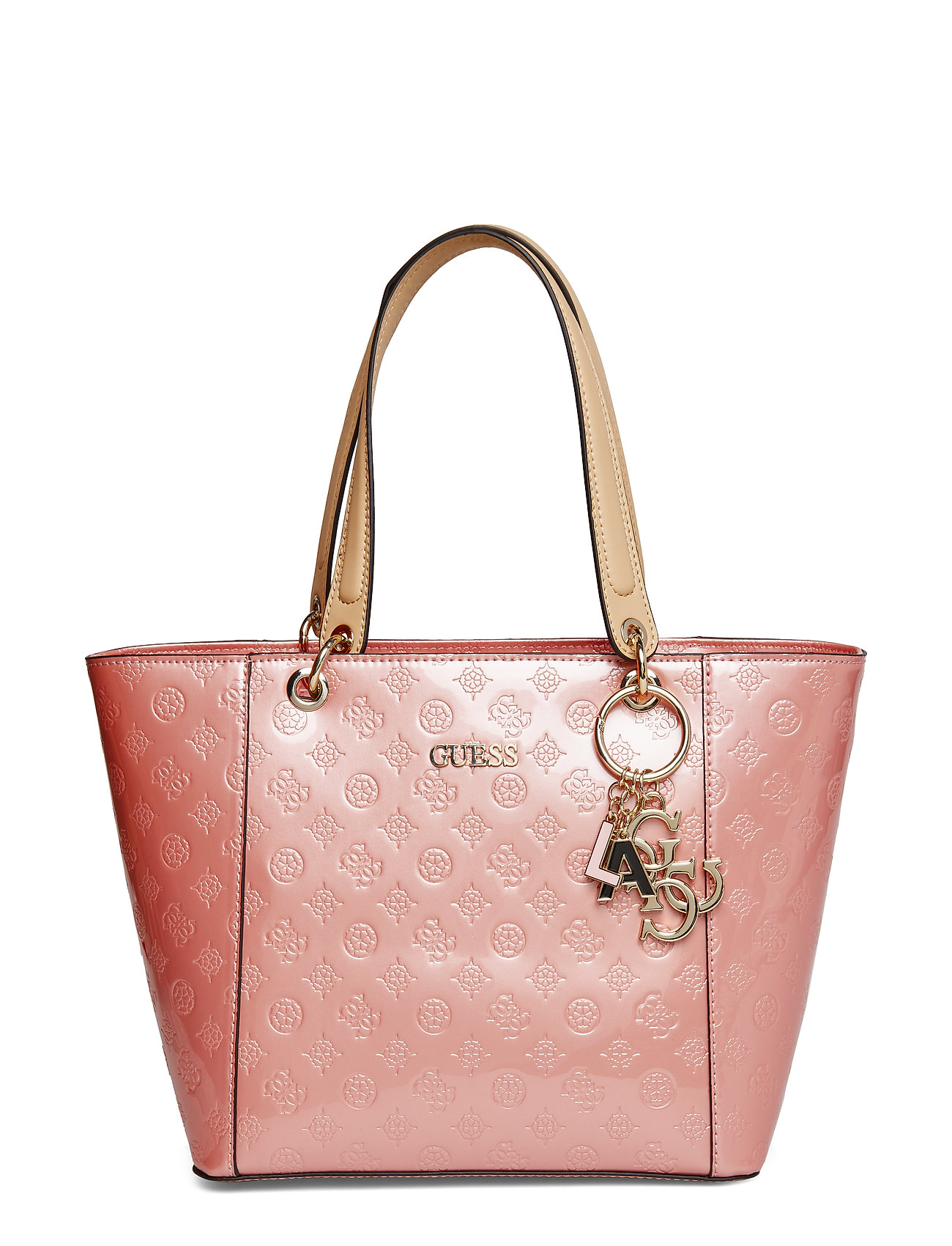GUESS Kamryn Tote Bags Shoppers Fashion Shoppers Pink GUESS