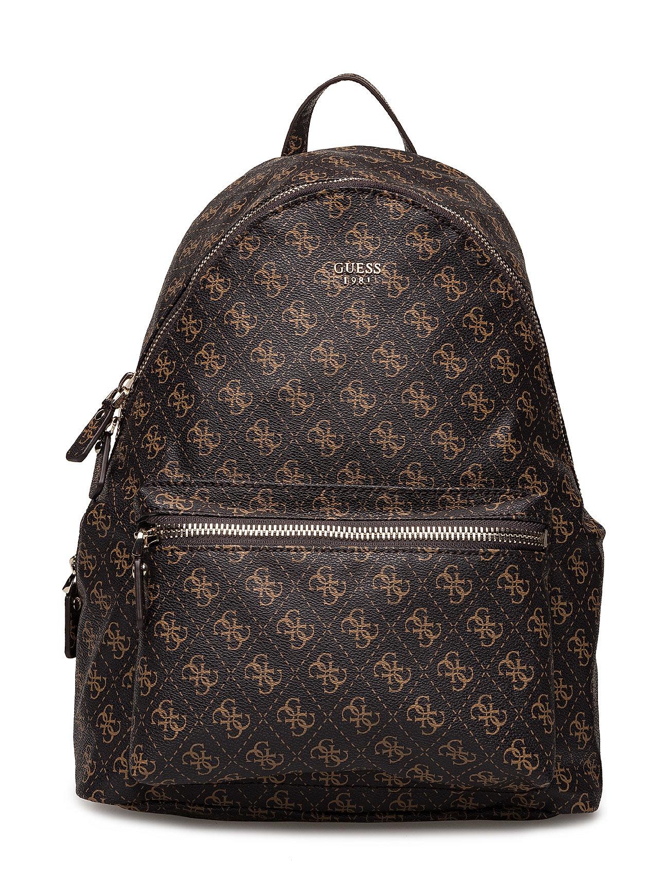 GUESS Leeza Backpack Rucksack Tasche Braun GUESS