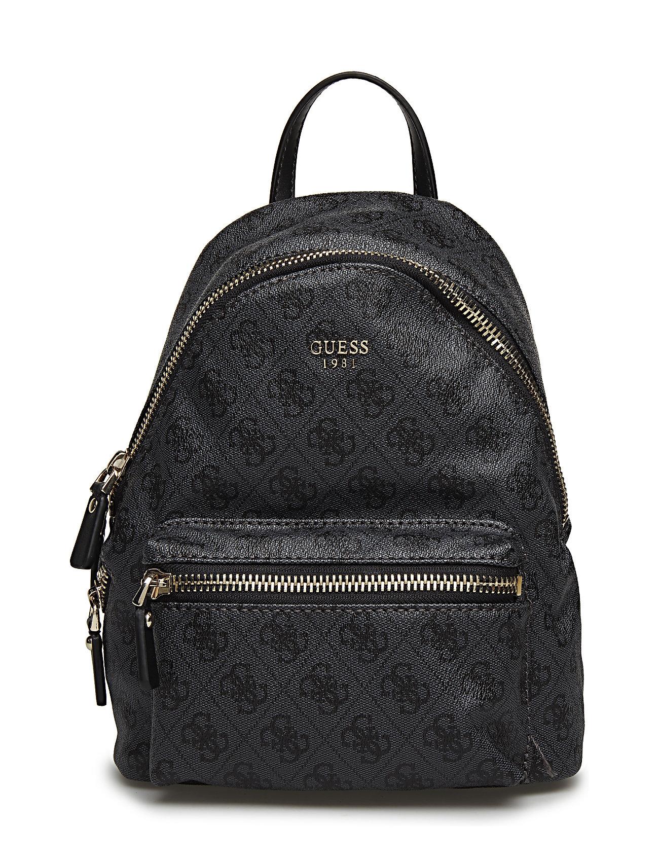 GUESS Leeza Small Backpack Rucksack Tasche Schwarz GUESS