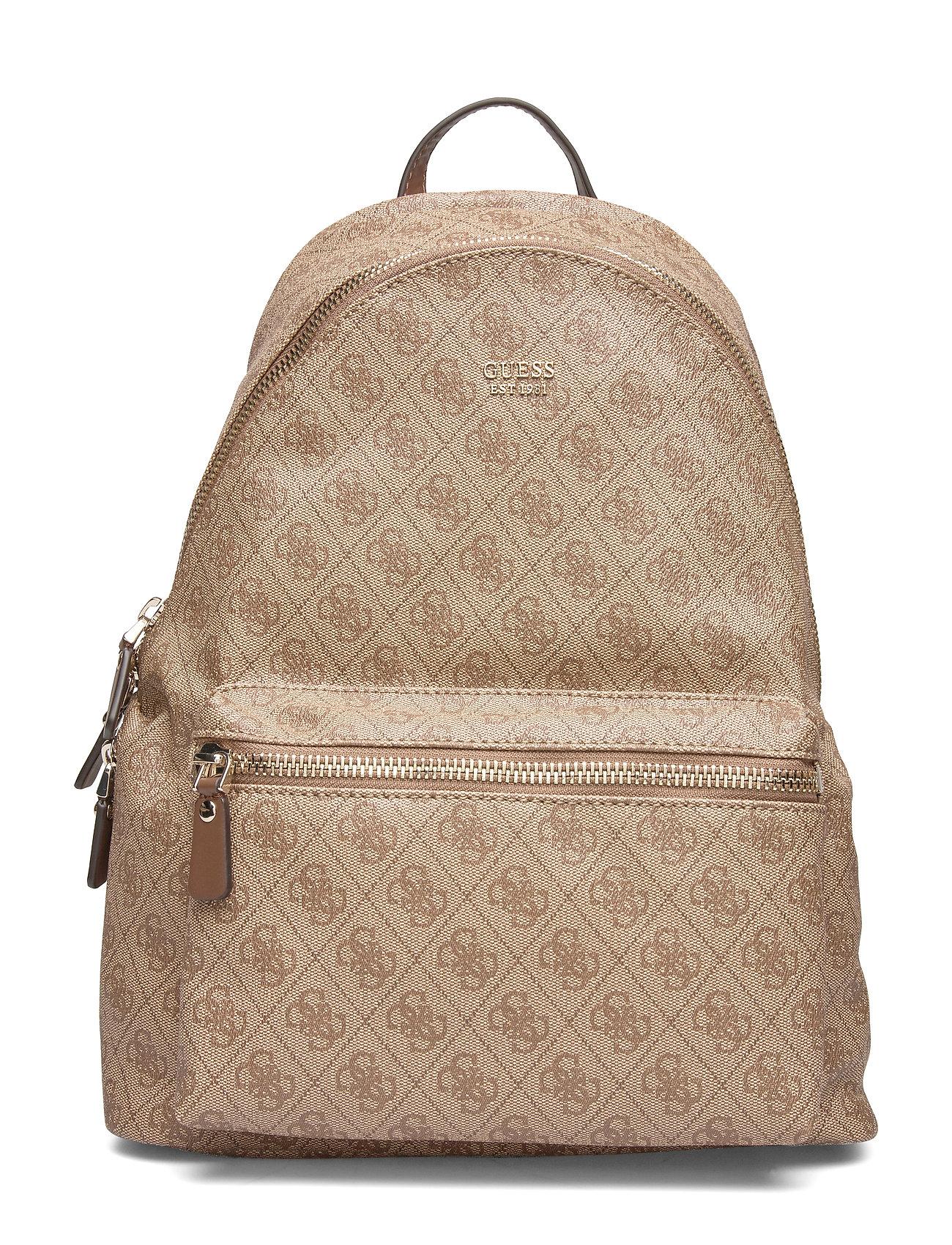GUESS Leeza Backpack Rucksack Tasche Beige GUESS