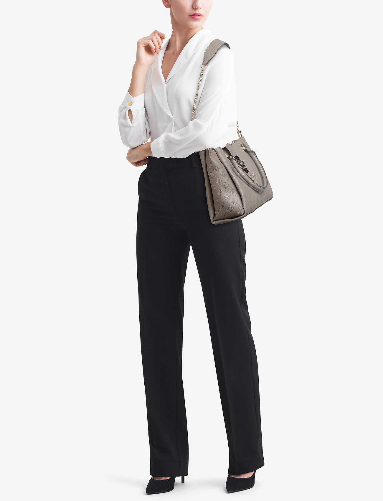 GUESS PEONY CLASSIC GRLFRND CARRYALL - TAUPE
