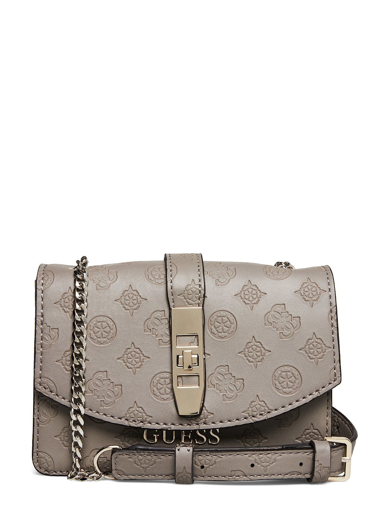 GUESS Peony Classic Mini Xbody Flap Bags Small Shoulder Bags/crossbody Bags Beige GUESS