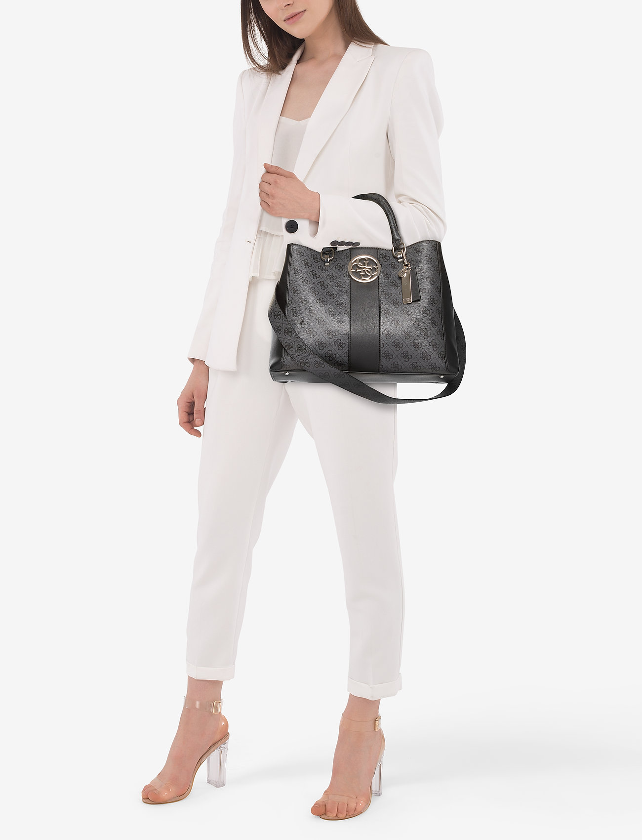 GUESS BLUEBELLE CARRYALL - COAL