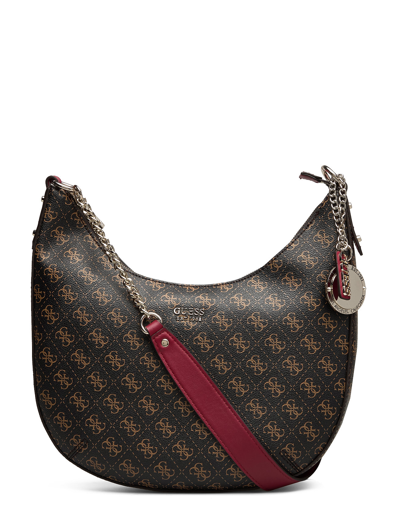 GUESS Aline Hobo Bags Top Handle Bags Braun GUESS