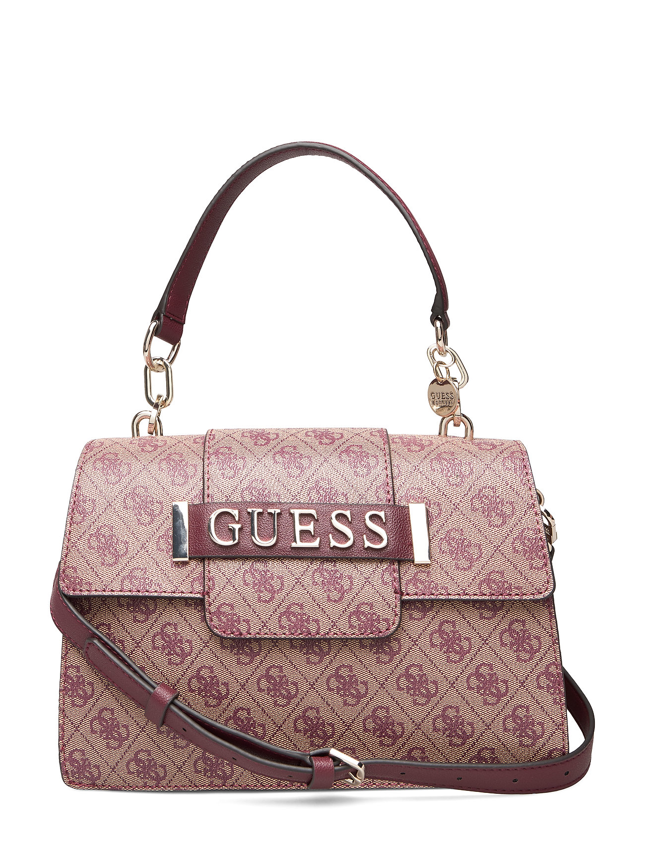 GUESS Kerrigan Top Handle Flap Bags Top Handle Bags Pink GUESS