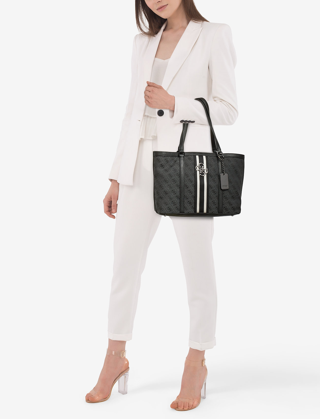 GUESS GUESS VINTAGE TOTE - COAL