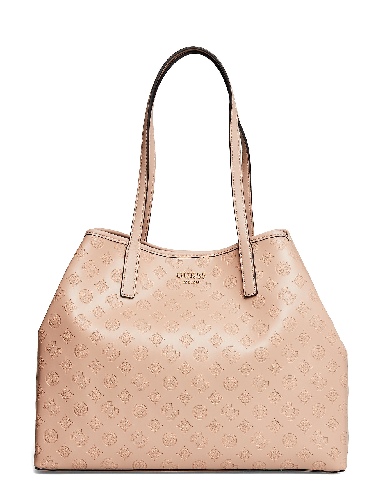 GUESS Vikky Large Tote Bags Shoppers Fashion Shoppers Beige GUESS