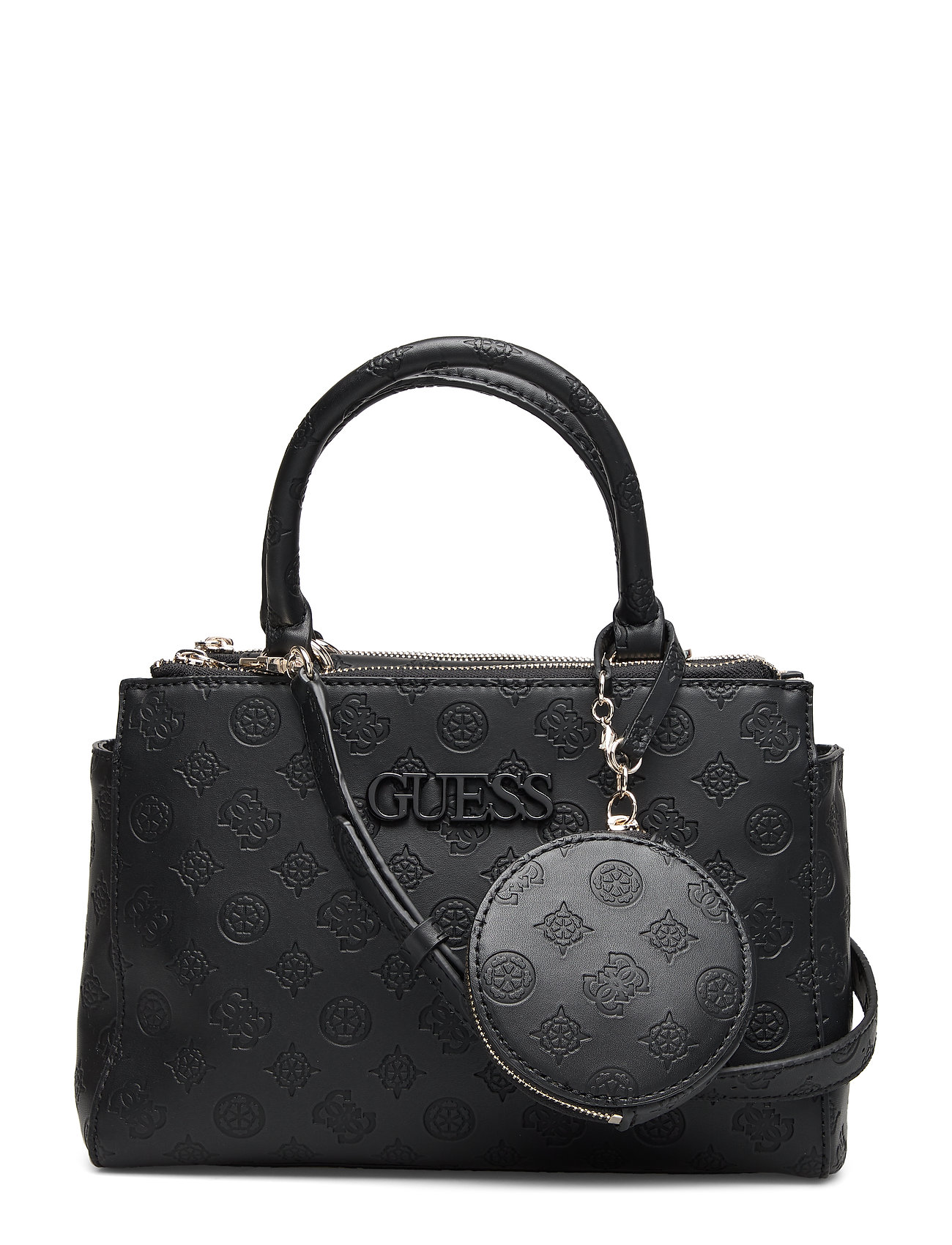 GUESS Janelle Small Status Satchel Bags Top Handle Bags Schwarz GUESS