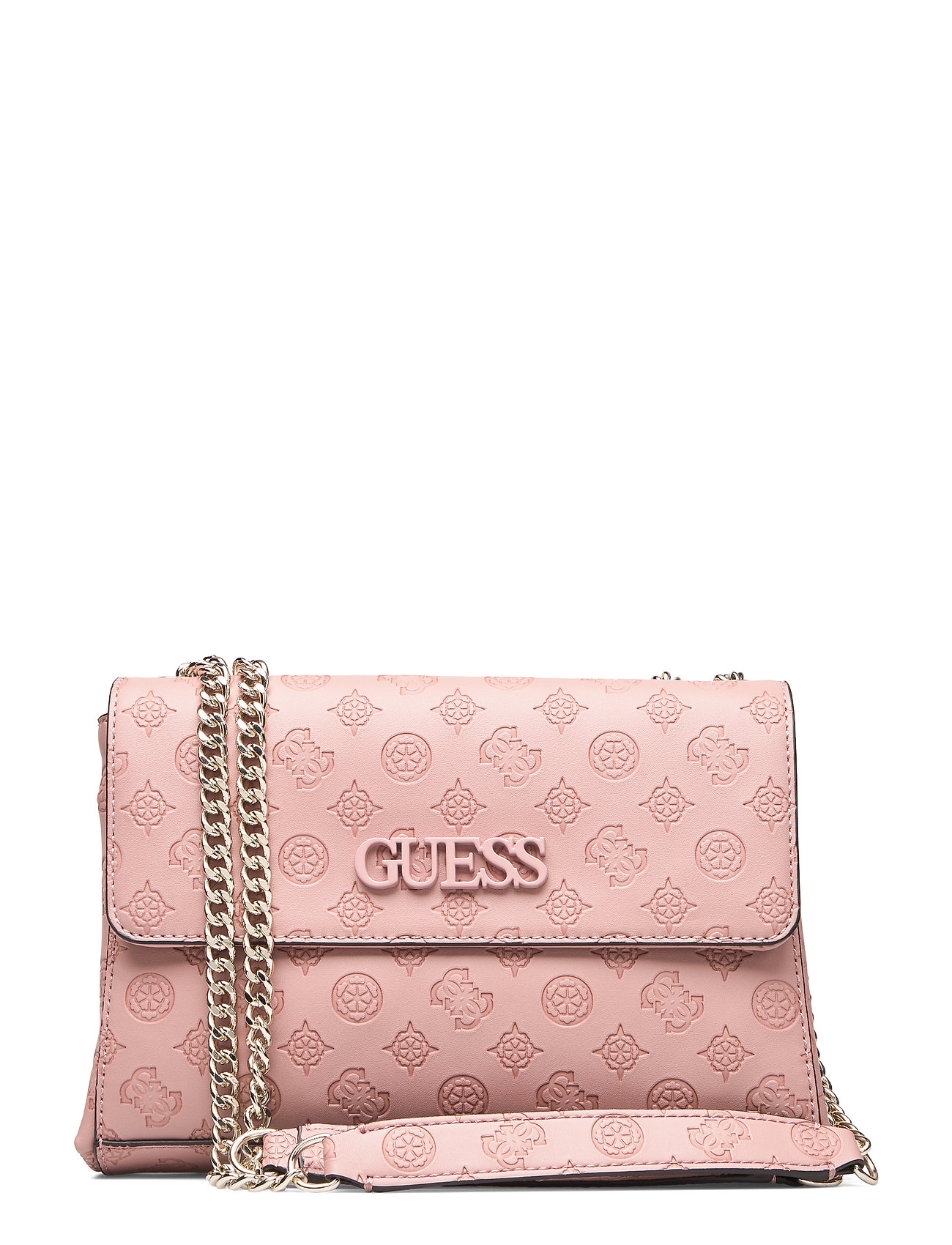 GUESS Janelle Convertible Xbody Flap Bags Small Shoulder Bags/crossbody Bags Pink GUESS