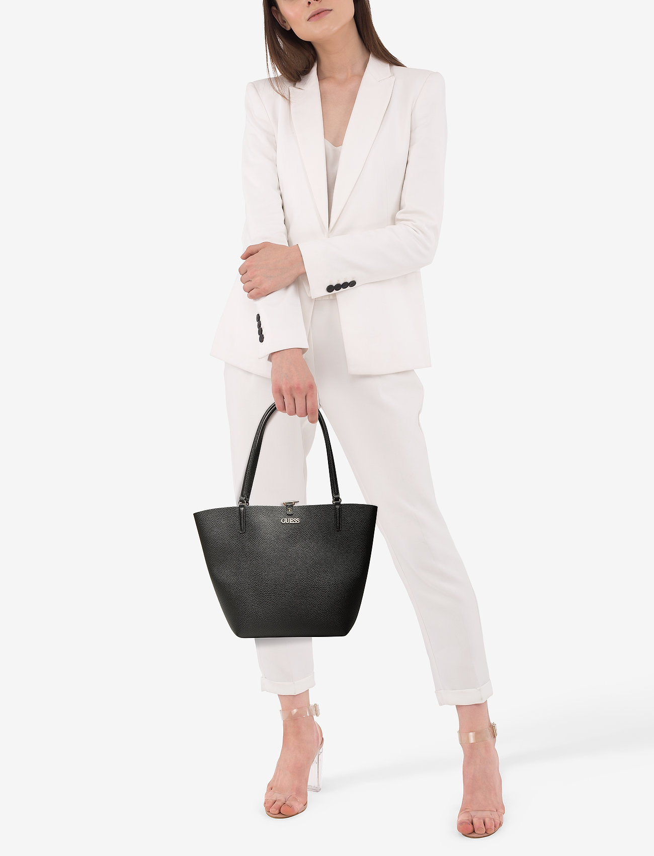 GUESS ALBY TOGGLE TOTE - BLACK
