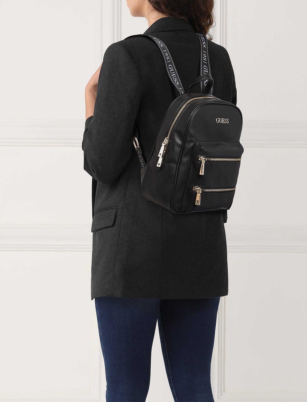 Guess Caley Large Backpack - Ryggsäckar Black