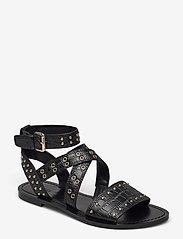 GUESS - CEVIE2/SANDALO (SANDAL)/LEATHE - platta sandaler - black - 0