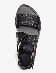 GUESS - CEVIE2/SANDALO (SANDAL)/LEATHE - platta sandaler - black - 3