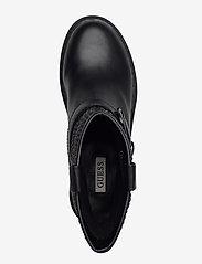 GUESS - ORICA/STIVALETTO (BOOTIE)/LEAT - platte enkellaarsjes - black - 3
