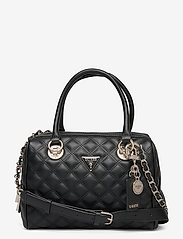 GUESS - CESSILY BOX SATCHEL - handväskor - black - 0