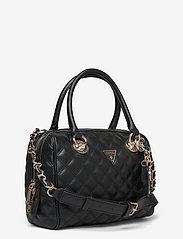 GUESS - CESSILY BOX SATCHEL - handväskor - black - 2