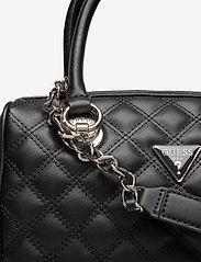 GUESS - CESSILY BOX SATCHEL - handväskor - black - 3