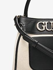 GUESS - UPTOWN CHIC SML TRNLCK SATCHEL - handväskor - black - 3