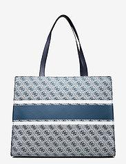 GUESS - MONIQUE TOTE - shoppingväskor - blue - 1