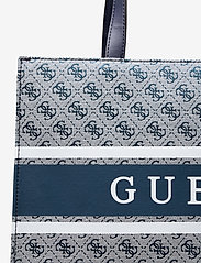 GUESS - MONIQUE TOTE - shoppingväskor - blue - 3