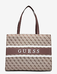 GUESS - MONIQUE TOTE - shoppingväskor - brown - 0
