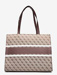 GUESS - MONIQUE TOTE - shoppingväskor - brown - 1