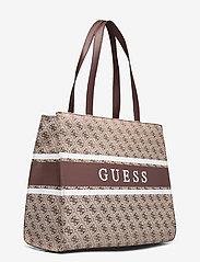 GUESS - MONIQUE TOTE - shoppingväskor - brown - 2
